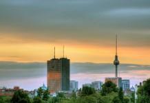 sunset over Berlin